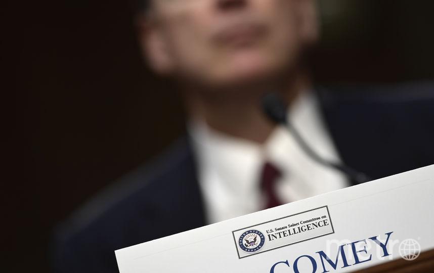 Уволенный Трампом глава ФБР даёт показания в прямом эфире. Фото AFP