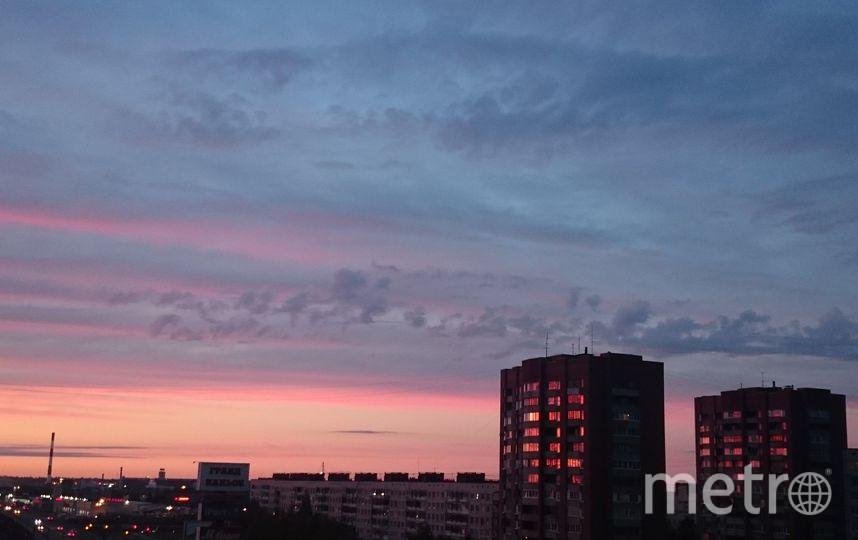 Фото заката невероятной красоты в Петербурге 8 июня. Фото соцсети, vk.com
