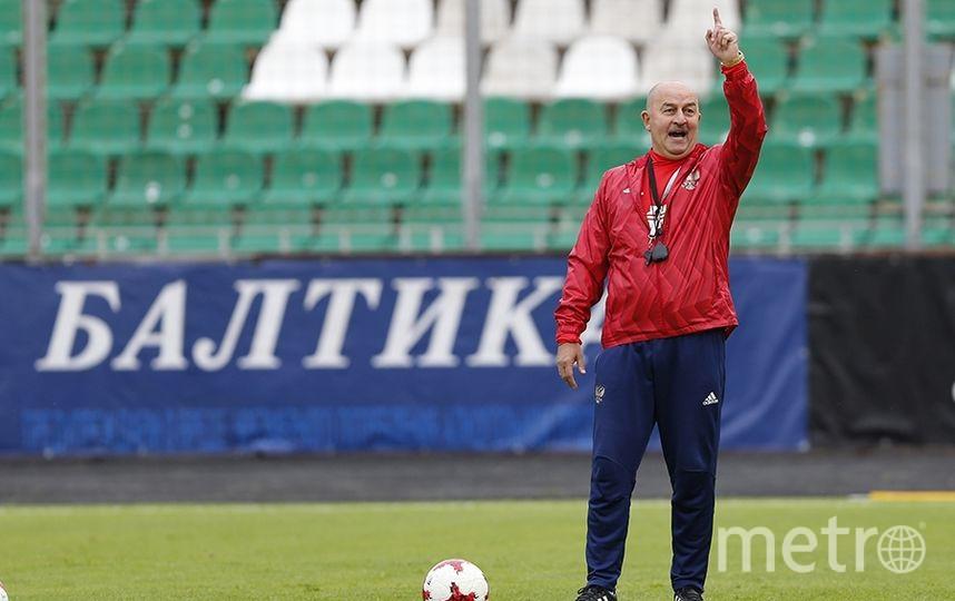 Тренировка сборной России перед матчем со сборной Чили. Фото РФС