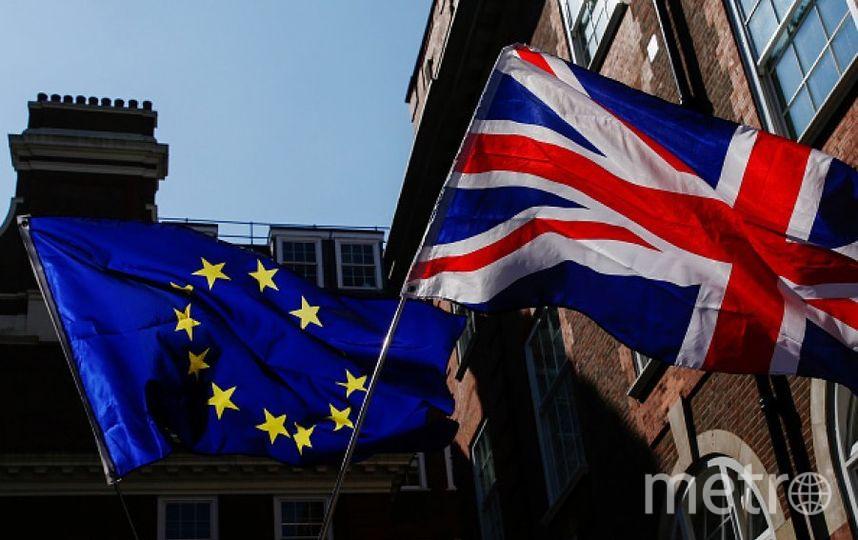 Флаги Британии и ЕС. Фото Getty