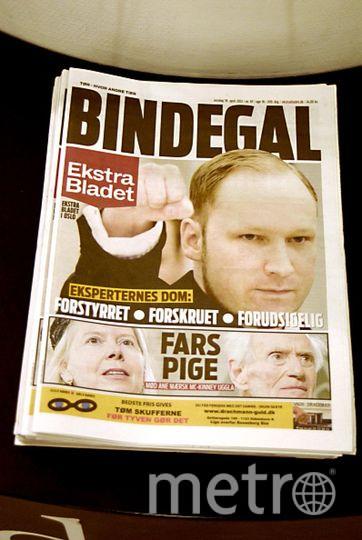 Первая полоса газеты с Брейвиком. Фото Getty