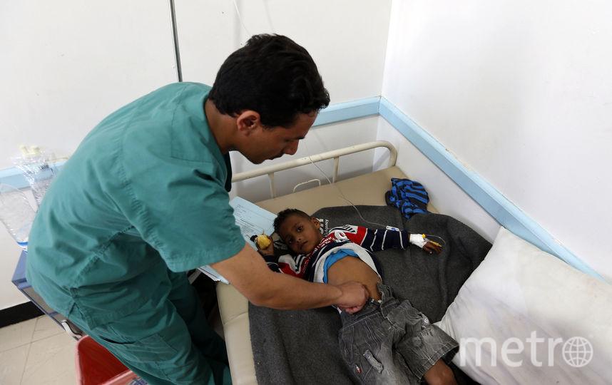 Заражённые холерой дети. Фото AFP