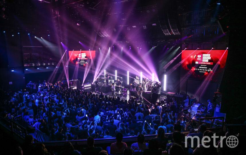 На концерте группы Linkin Park. Фото Getty