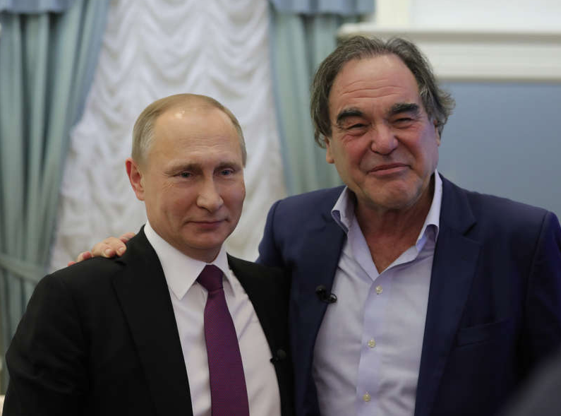 Владимир Путин и Оливер Стоун. Фото Showtime