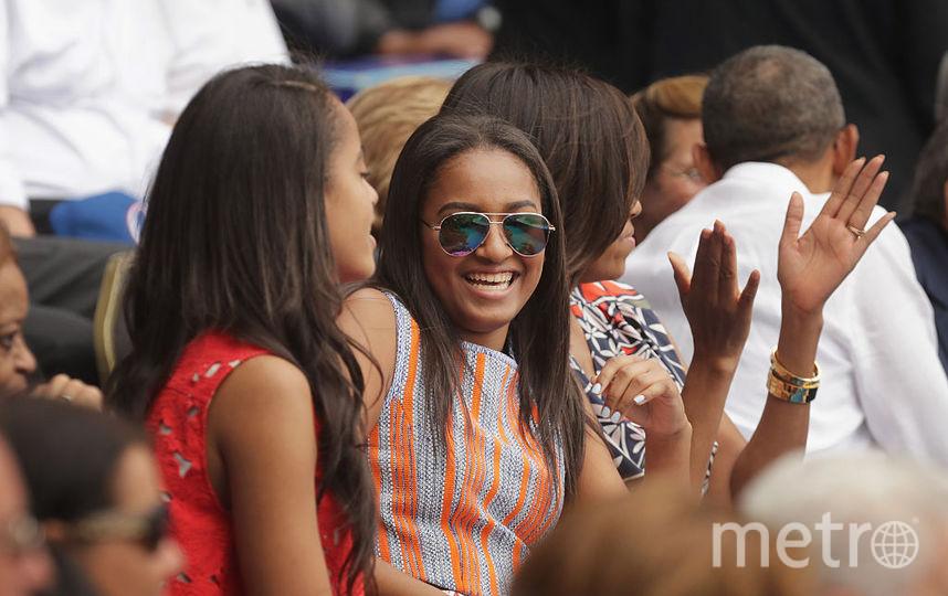Наташа Обама с сестрой Малией. Фото Getty