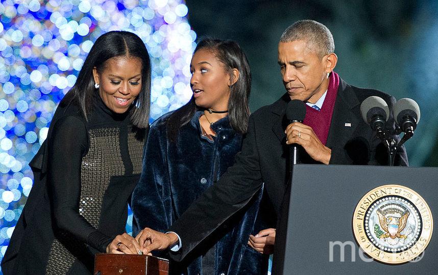 Наташа Обама с родителями. Фото Getty