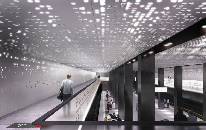"""Дизайн станции """"Стромынка"""". Фото mos.ru"""