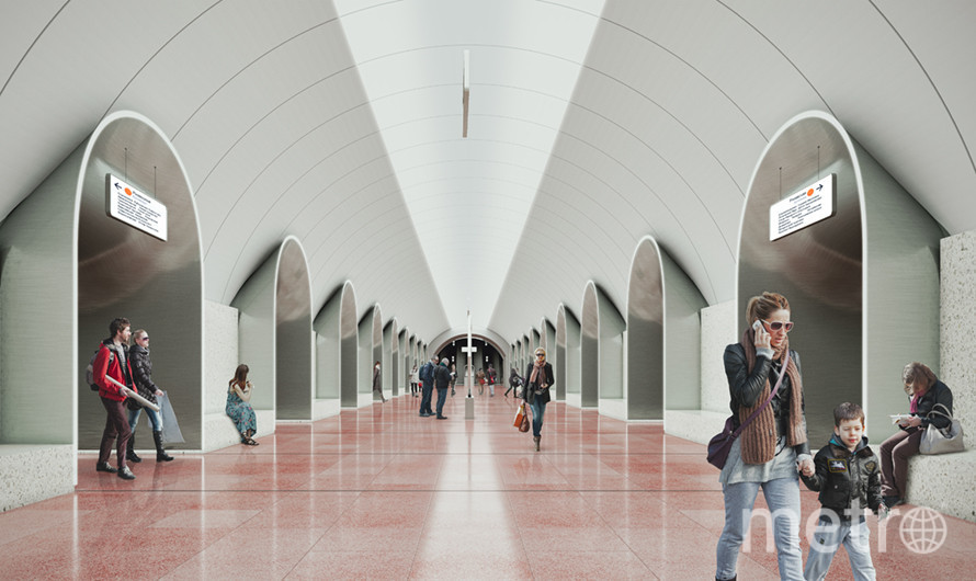 """Дизайн станции """"Ржевская"""". Фото mos.ru"""