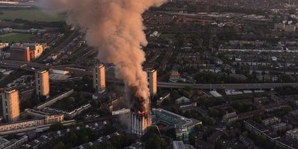 В Лондоне горела многоэтажка. Фото twitter