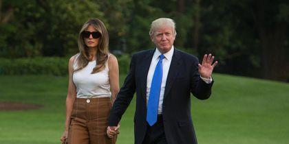 Дональд Трамп с женой и сыном. Фото Getty