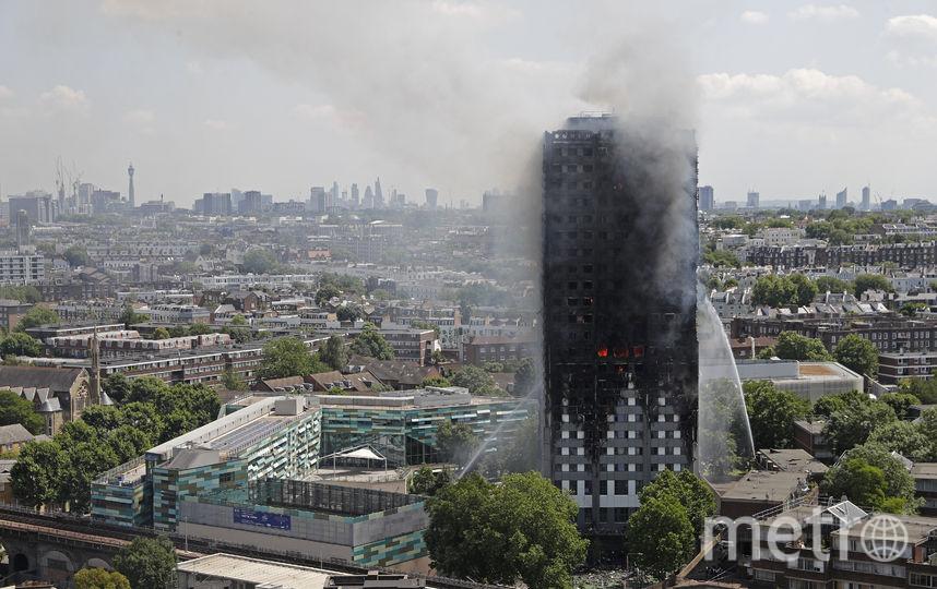 Пожар в высотке Grenfell Tower в Лондоне. Фото AFP