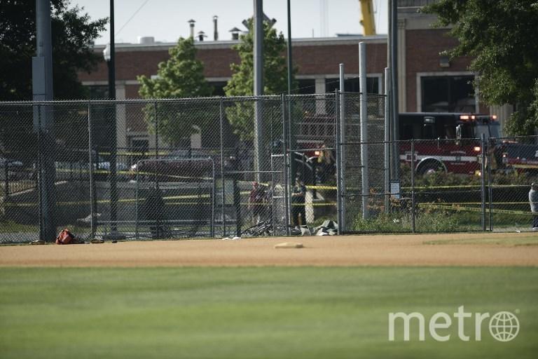 Фото с места покушения на конгрессмена Стива Скализе. Фото AFP