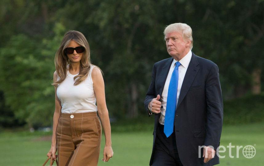45-ый президент США Дональд Трамп с женой Меланией. Фото Getty