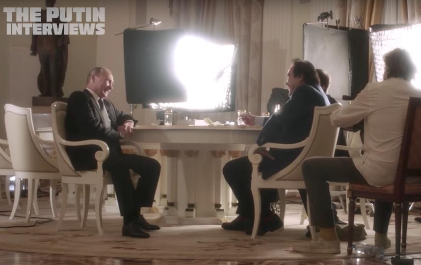Владимир Путин и Оливер Стоун. Фото Скриншот Youtube