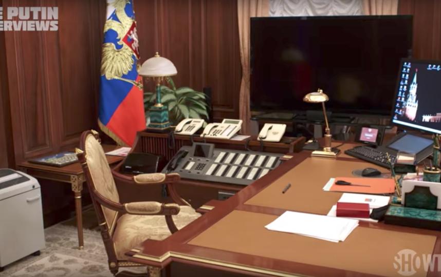 Кабинет Владимира Путина. Фото Скриншот Youtube