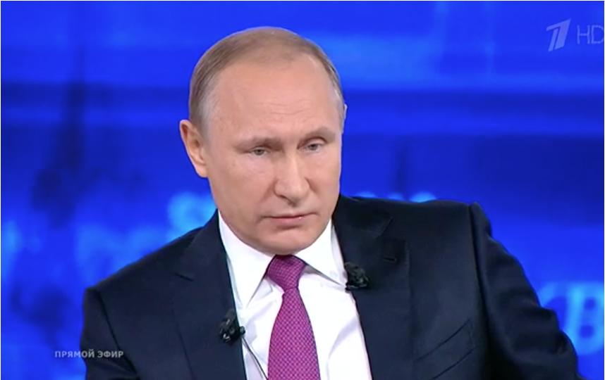 Прямая линия с Владимиром Путиным. Фото Первый канал.