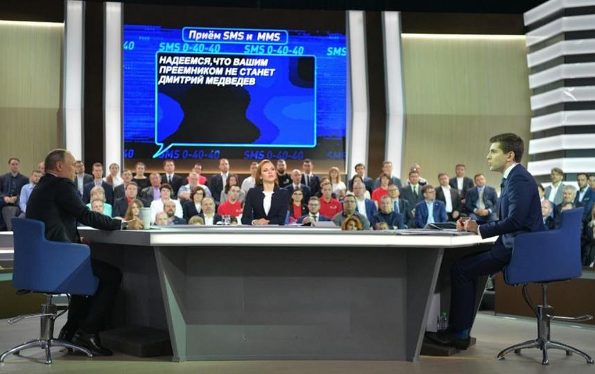 """""""Прямая линия"""" с Владимиром Путиным. Фото AFP"""