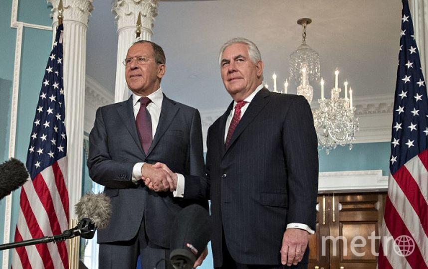 Рекс Тиллерсон и Сергей Лавров. Фото Getty