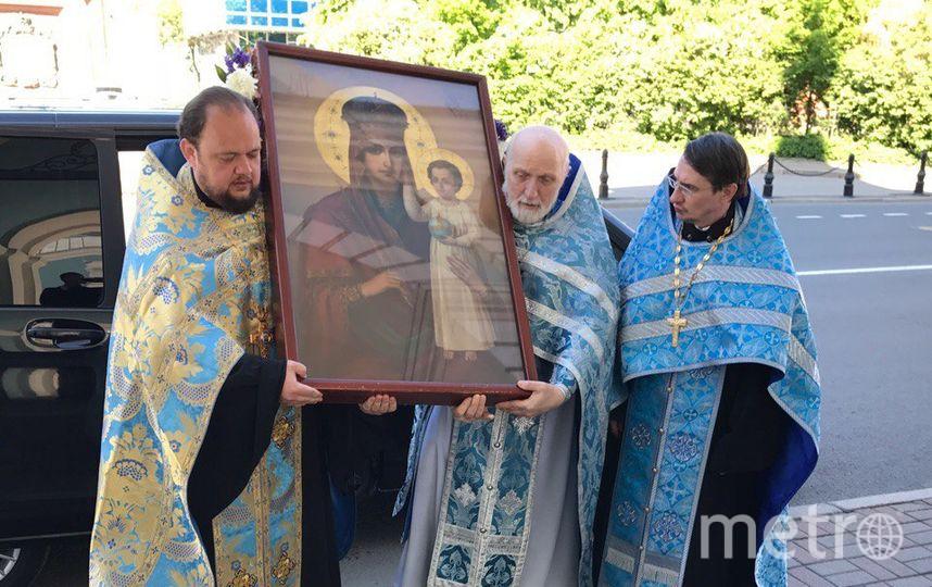 В Сампсониевский собор привезли чудотворную икону. Фото vk.com