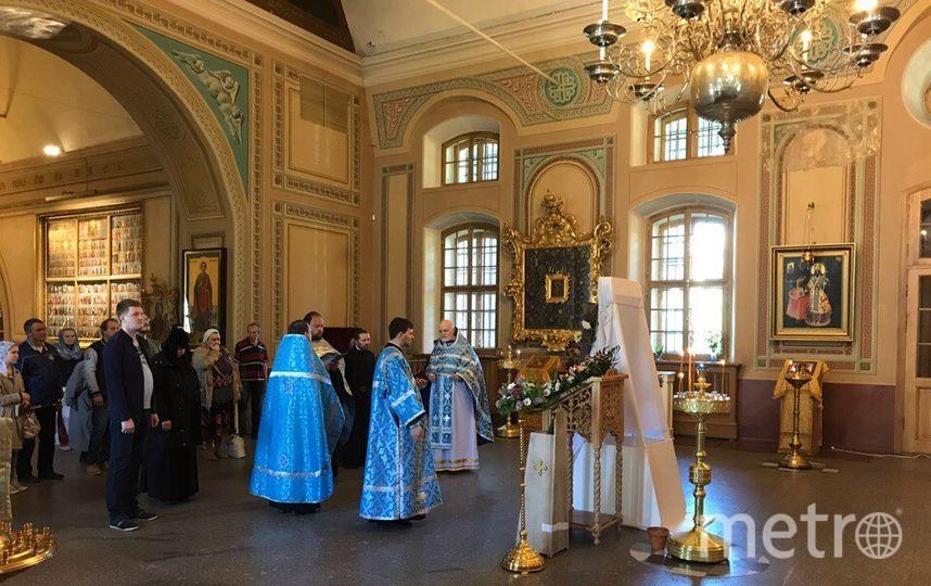 В Сампсониевский собор привезли чудотворную икону.