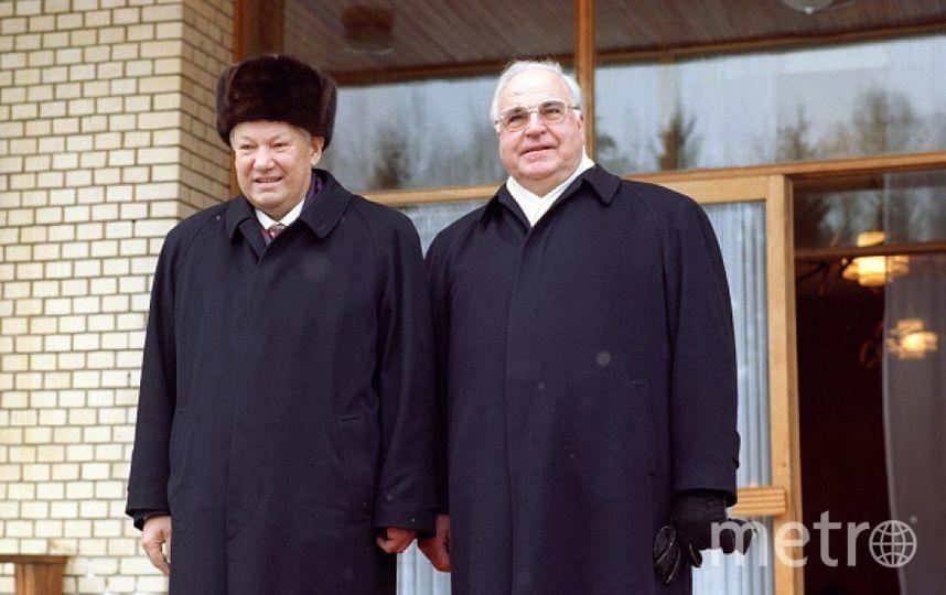 Гельмут Коль и Борис Ельцин. Фото Getty