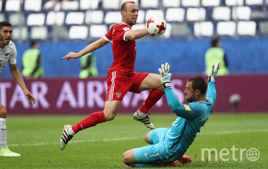 Глушаков открывает счёт в матче. Фото Getty