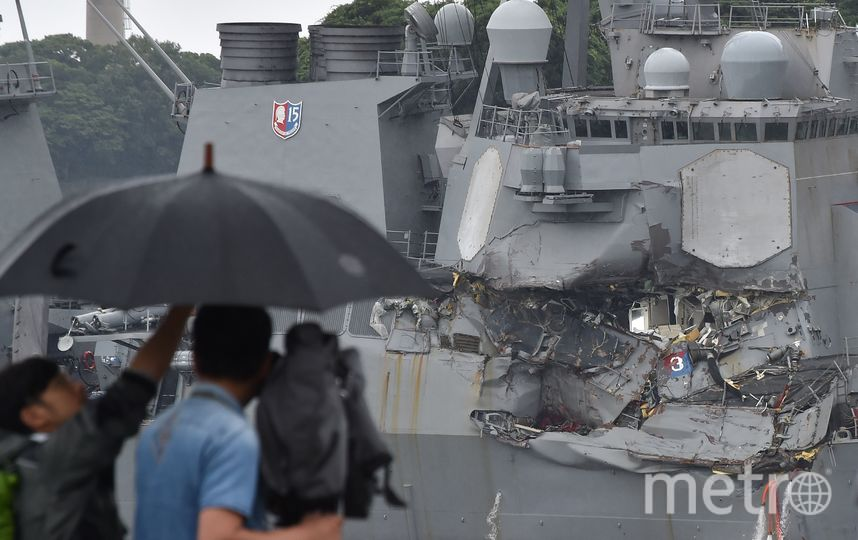 USS Fitzgerald. Фото AFP
