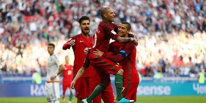 Португалия празднует забитый гол. Фото Getty