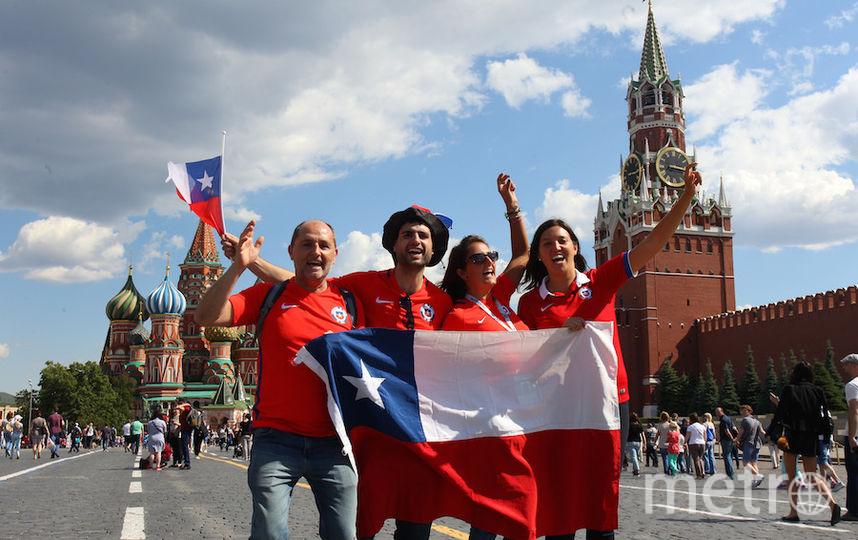 Чилийцы были в восторге от Красной площади. Фото Василий Кузьмичёнок