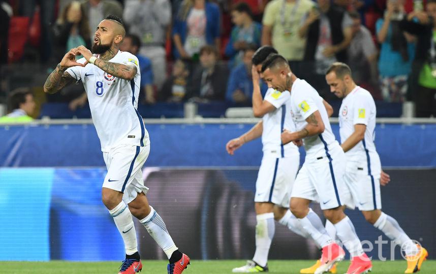 Первый гол забил один из самых известных игроков сборной Чили Видаль. Фото AFP