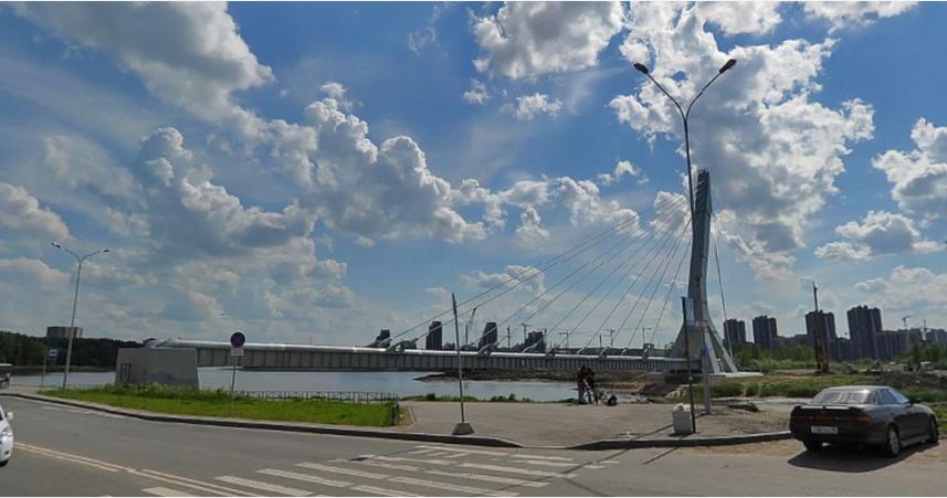 Петербуржцы переименовали мост Кадырова в Ахматовский. Фото Яндекс.Панорамы.