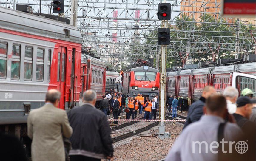 """Стала известна причина столкновения поездов в Москве. Фото Василий Кузьмичёнок, """"Metro"""""""