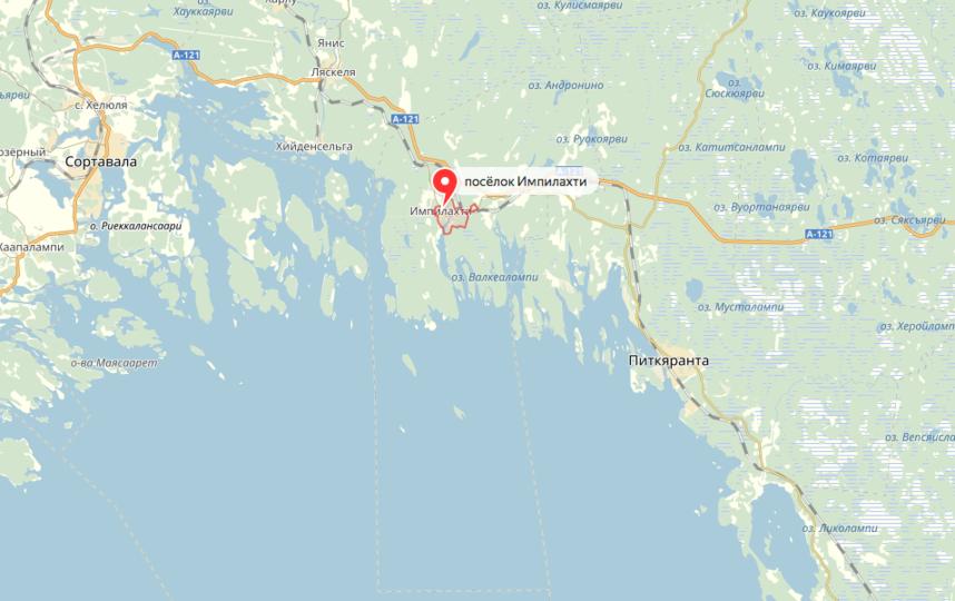 Все случилось 19 июня в заливе Импилахти Питкярантского района. Фото яндекс.карты