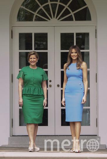Модные критики обсуждают васильковое платье Мелании Трамп. Фото Getty