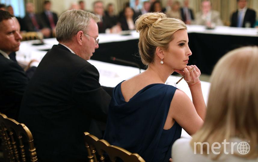 Иванка Трамп на круглом столе. Фото Getty