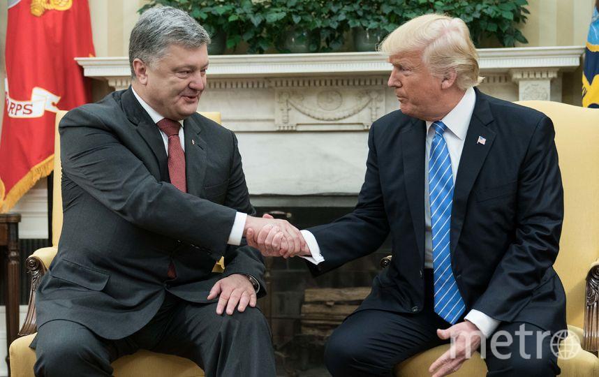 Встреча Дональда Трампа и Петра Порошенко. Фото AFP