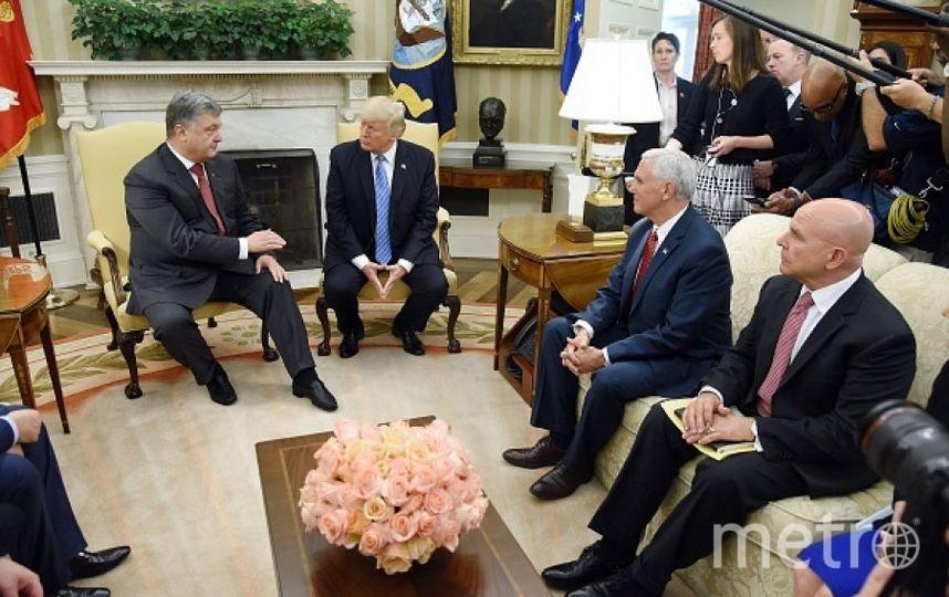 Дональд Трамп и Пётр Порошенко. Фото Getty