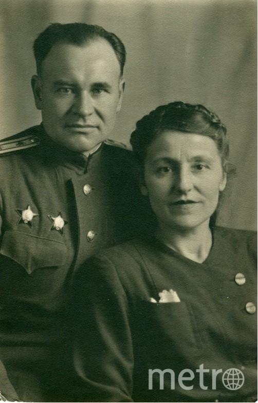 Василий и Прасковья Тринченко в 1946 году. Фото из семейного архива