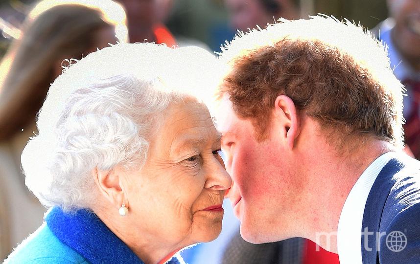 Принц Гарри и Елизавета II. Фото Getty