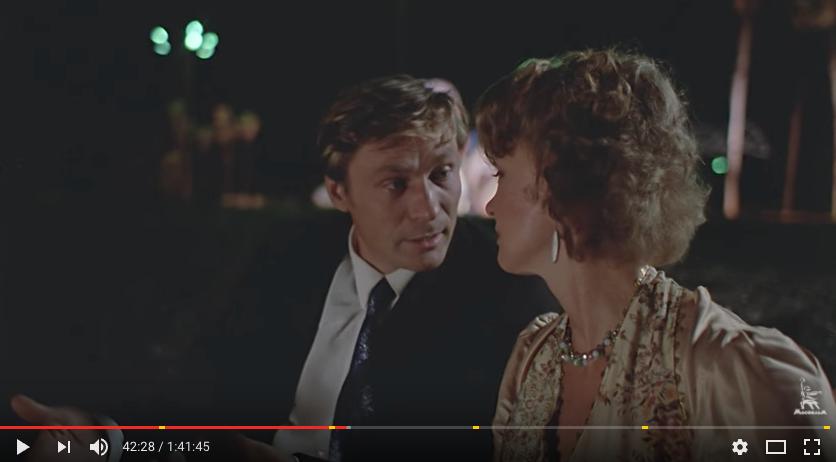 """Скриншот из фильма """"Любовь и голуби"""".. Фото скриншот с канала киноконцерна"""