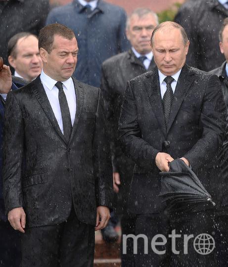 Владимр Путин и Дмитрий Медведев. Фото AFP