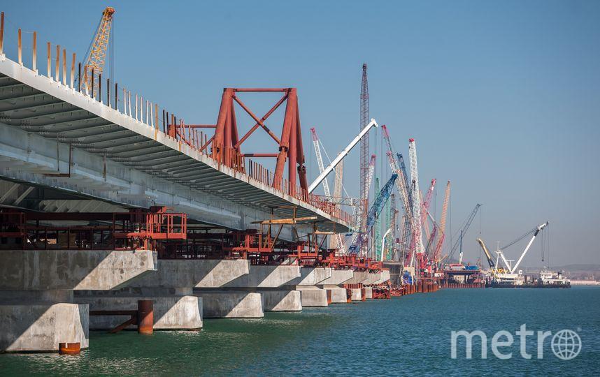 Строительство моста через Керченский пролив. Фото www.most.life/