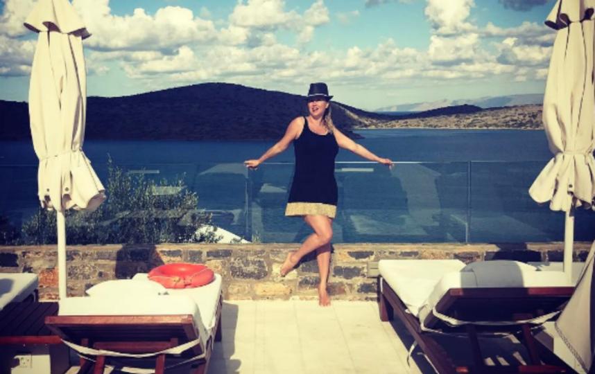 Анна Семенович на отдыхе.