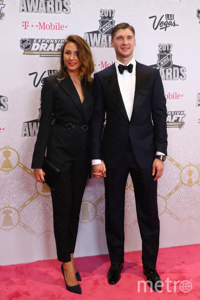 Сергей Бобровский с женой Ольгой. Фото Getty