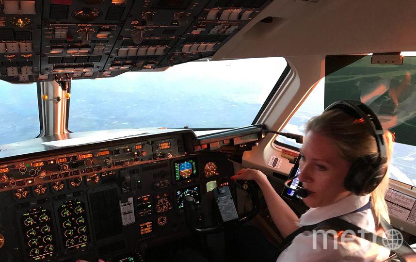 Сюзанна пилотирует. Фото Susanna Sundberg