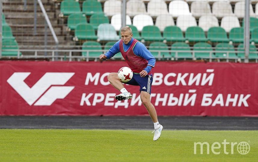 Тренировка сборной России по футболу. Фото РФС
