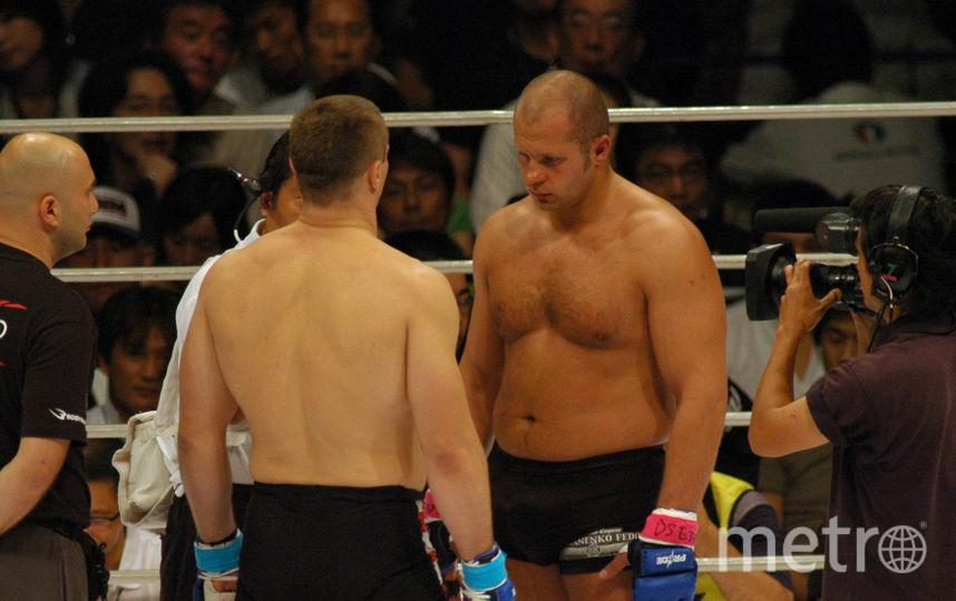Фёдор Емельяненко с соперником (архивное фото). Фото Getty