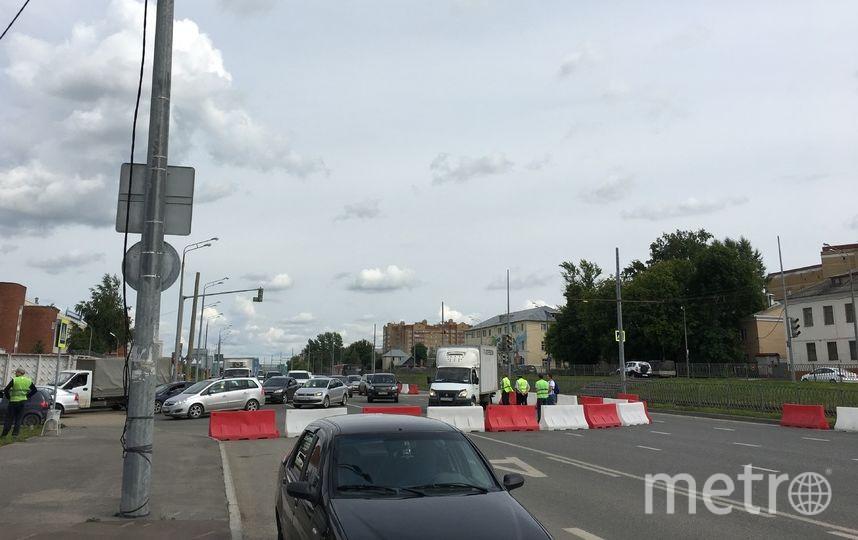 """Дороги перед стадионом были перекрыты. Фото Юлия Коршунова, """"Metro"""""""