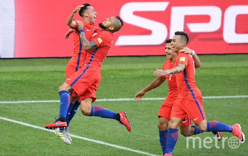 Чилийцы стали первыми поуфиналистами из группы B. Фото AFP