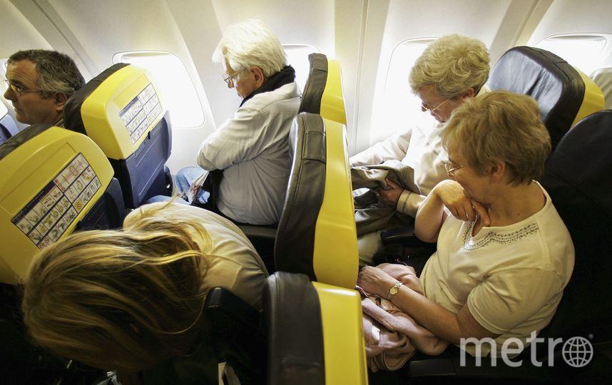 На борту самолёта. Фото Getty